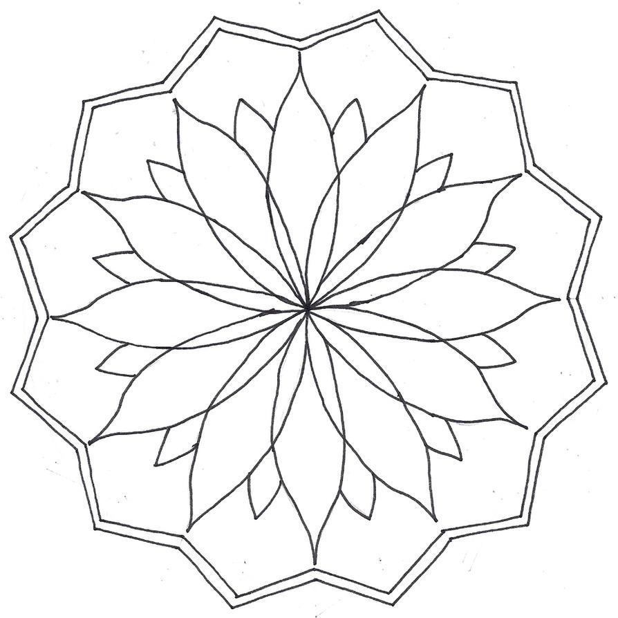 Mandala Coloring Sheets Easy Gembloong