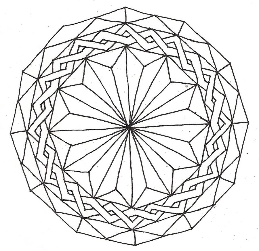 more mandala lineart by ElviraCasanova on DeviantArt
