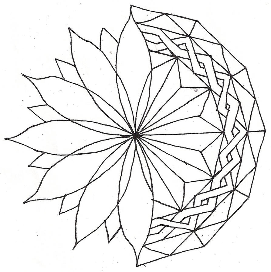 Line Drawing Mandala : Combo mandala lineart by elviracasanova on deviantart