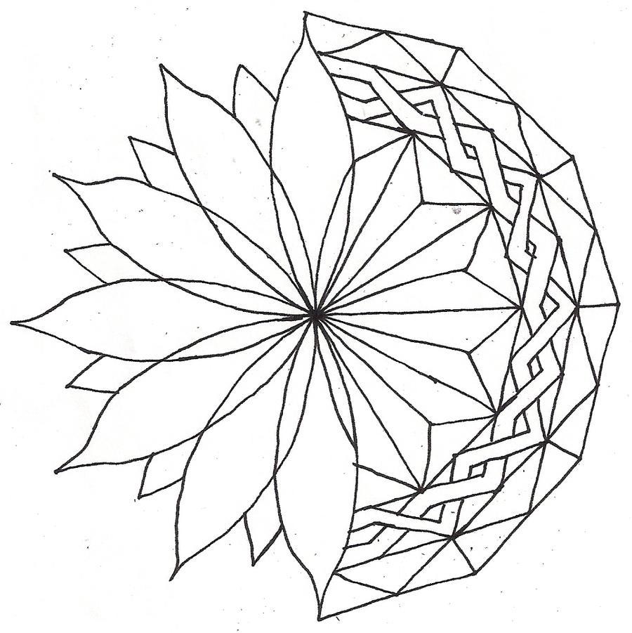 Line Art Mandala : Combo mandala lineart by elviracasanova on deviantart