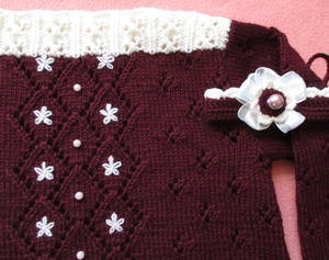 Detail of Wool Sweater and Hairband for Toddler
