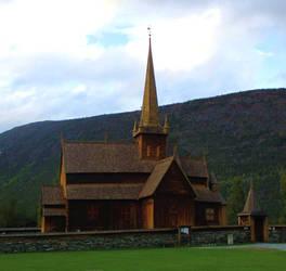 Gorgeous Lom Stavkyrkje (Lom Stave Church) by ToveAnita