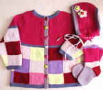Colourful Wool Baby Set by ToveAnita