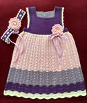 Knitted Dress and Hairband for Toddler