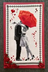 Cross-stitch Wedding Card