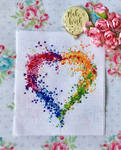 Birthday Heart Embroidery by ToveAnita
