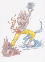 Avatar Aang colored by lancehunter17