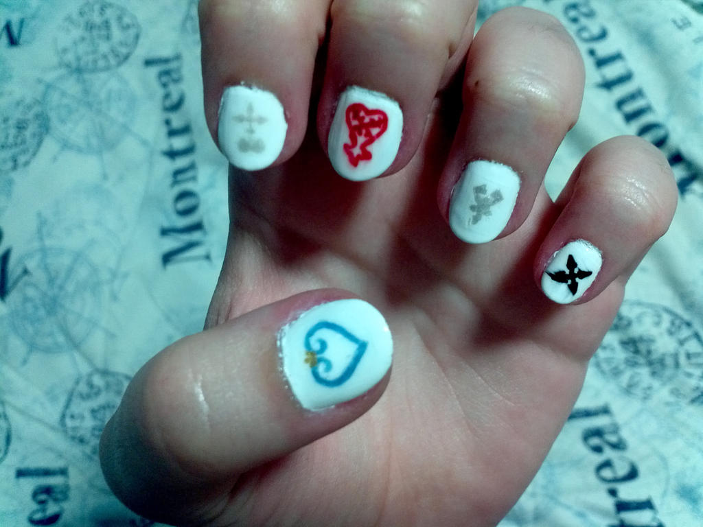 Kingdom Hearts nail art by tsidykh on DeviantArt