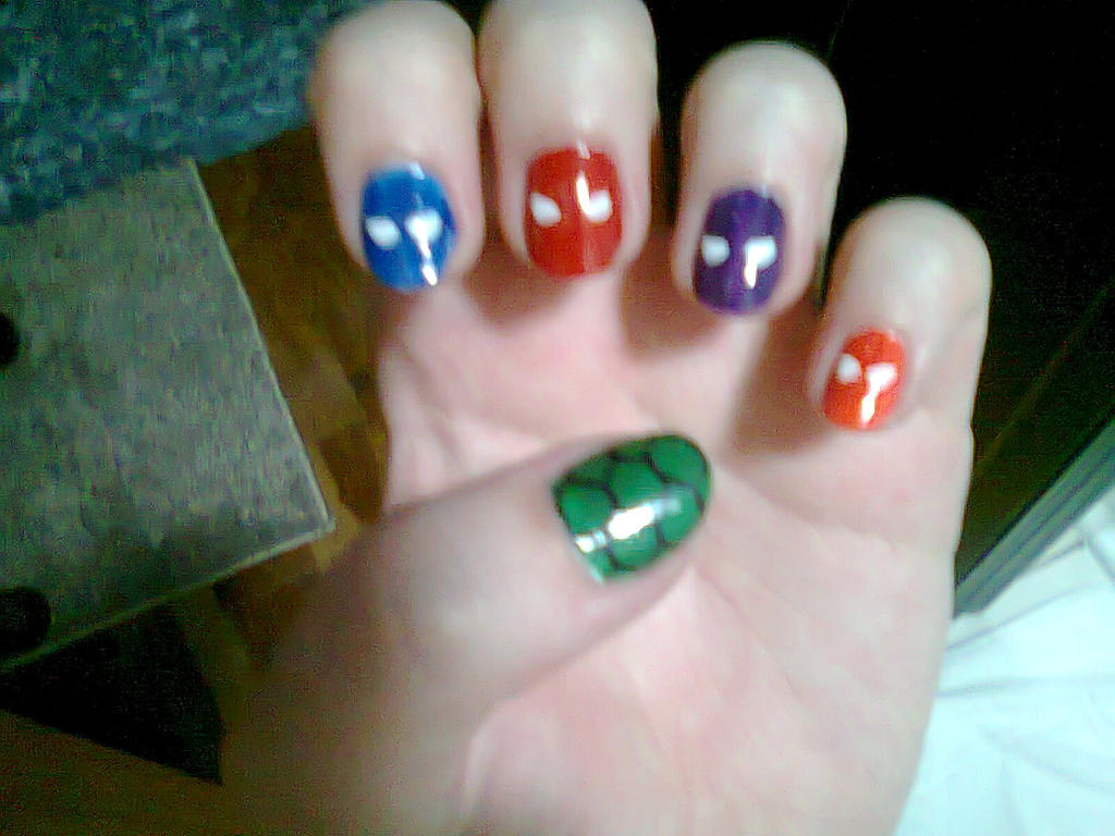 Teenage Mutant Ninja Turtles nail art by tsidykh on DeviantArt