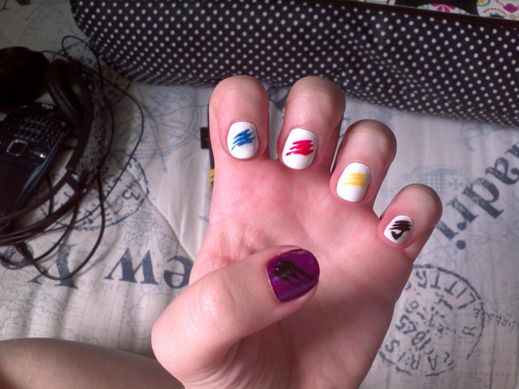 Super Gekiranger nail art