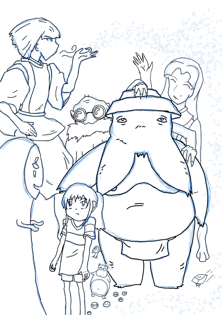 Protagonists Of Spirited Away An The Radish Spirit By Guiltyhero Spirited Away Coloring Pages