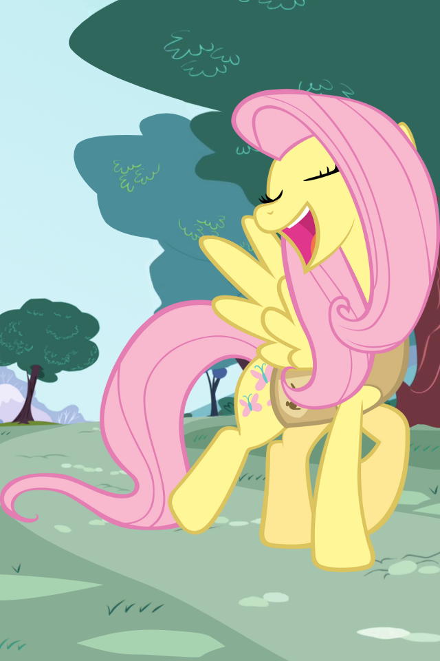 Fluttershy nature wallpaper by Inixen
