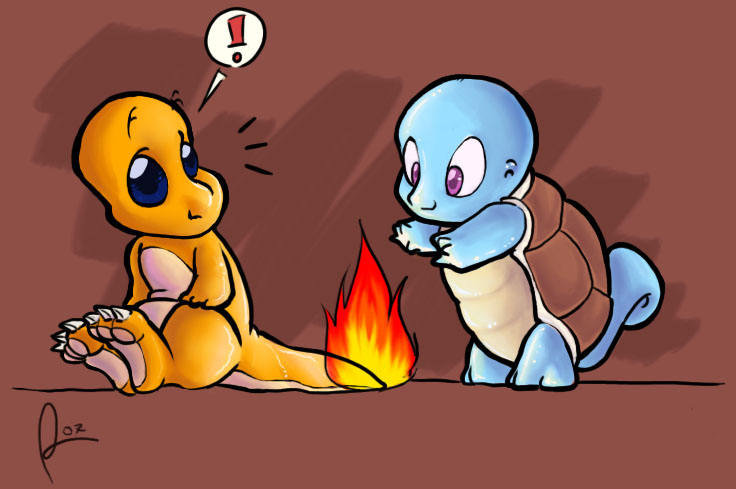 Official Charmander Thread Charmander_and_Squirtle_by_artemisio