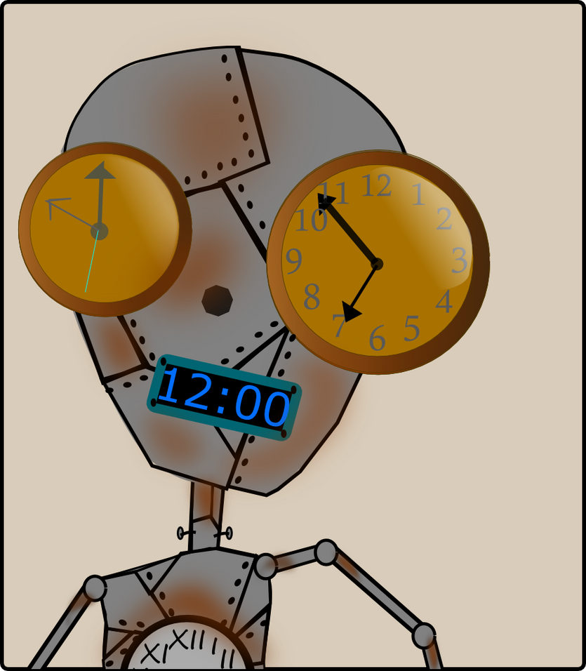 clock robot by julieanne714226