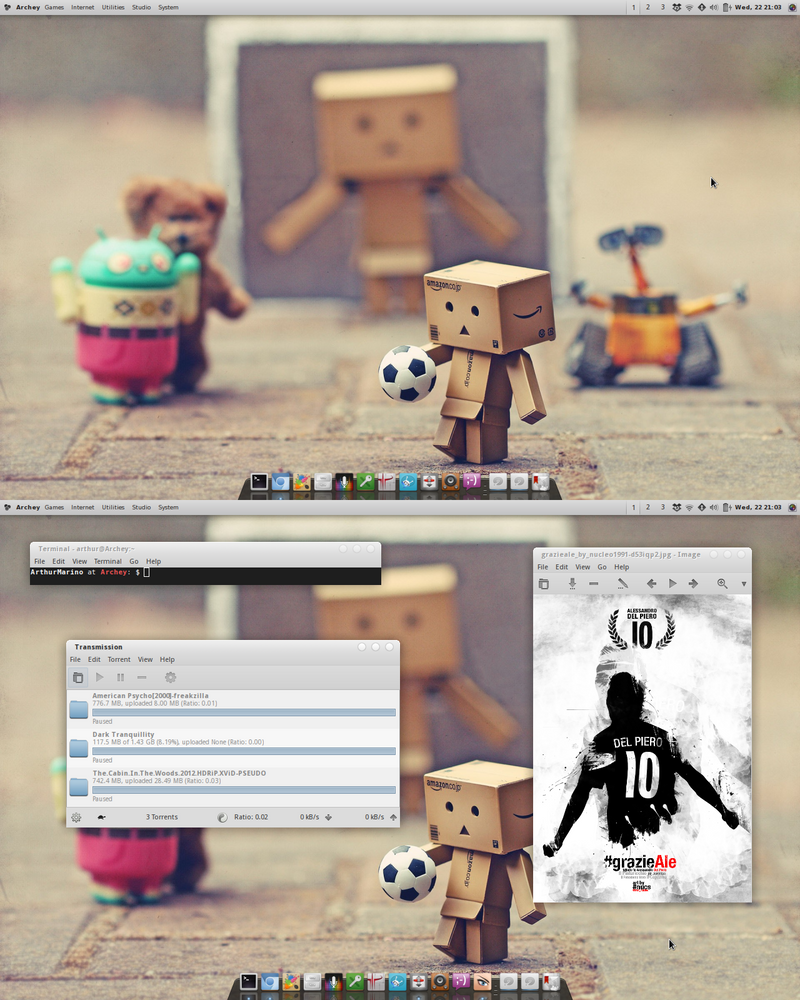 Arch Linux: Desktop Screenshot - 21/08/12 by artt-m