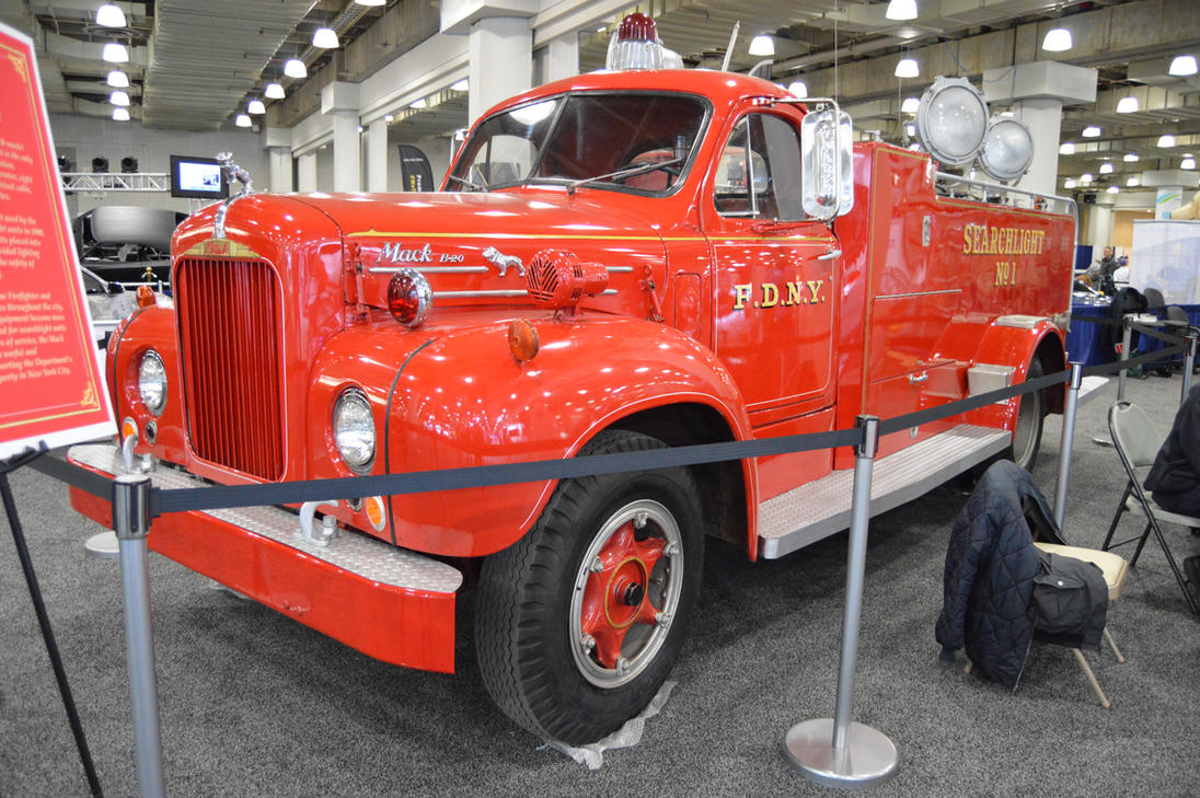 1950 To 1965 Mack Trucks : Mack b fdny searchlight truck iii by brooklyn on