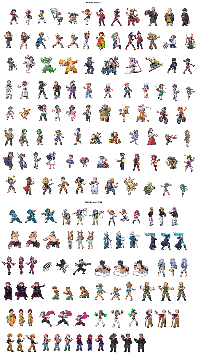 Pokemon Trainer Sprites by Awesome-Base on DeviantArt