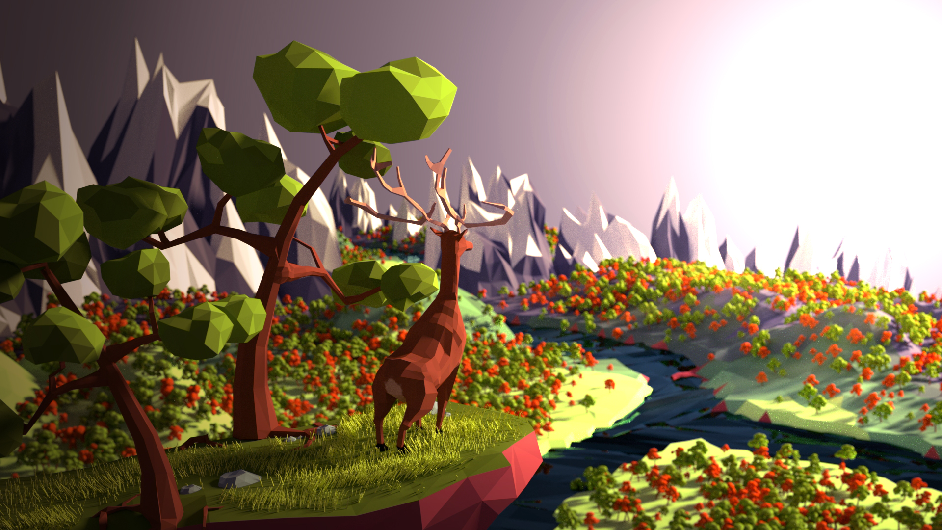 Favorit Low Poly Valley by killcanos on DeviantArt BN82