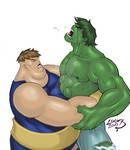 Blob vs Hulk COLORED 2010