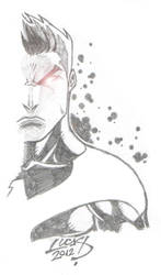 Cyclops as Dark Phoenix 2012 SKETCH