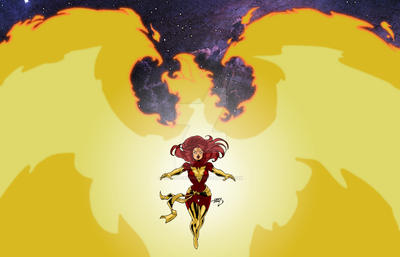 Dark Phoenix Wallpaper 2016 by LucasAckerman