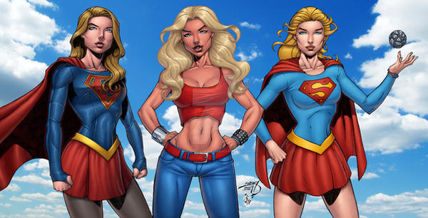 Supergirls Colored by LucasAckerman