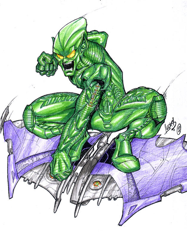 Рисунки зеленого гоблина