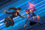 Psylocke V Deathstrike colors