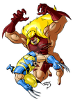 Wolverine vs Sabretooth 2018 COLORED