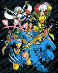 X-Men Animated Group 2019 wm by artoflucas