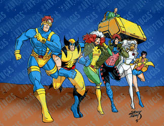 X-Men Running 2020 3-29 COLORED wm by artoflucas