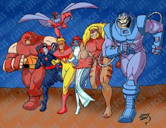 X-Men Villains Running 2020 3-31 COLORED with bg w by artoflucas
