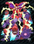 Magneto vs Sentinels 2020 6-17 COLORED wm by artoflucas