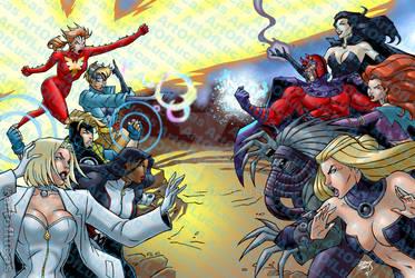 X-Men Battle of Flinkman COLORED 2021 1-7 wm by artoflucas