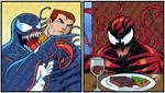 Venom and Carnage Yelling Symbiotes 2021 5-13 COLO by artoflucas