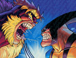 Wolverine vs Sabretooth Recreation of Wolverine 90 by artoflucas