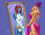 Psylocke Dark Reflection 2014 COLORED wm by artoflucas