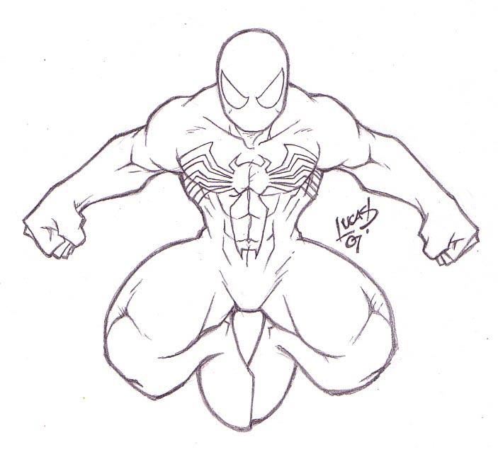Spiderman Black Suit Coloring Pages