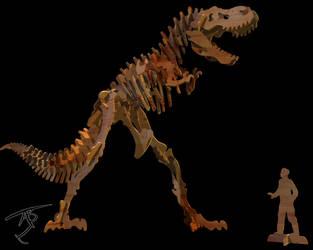 Wooden T-Rex 3D by Algae998
