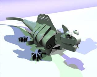 Bloco Basilisk - 3D foam toy by Algae998