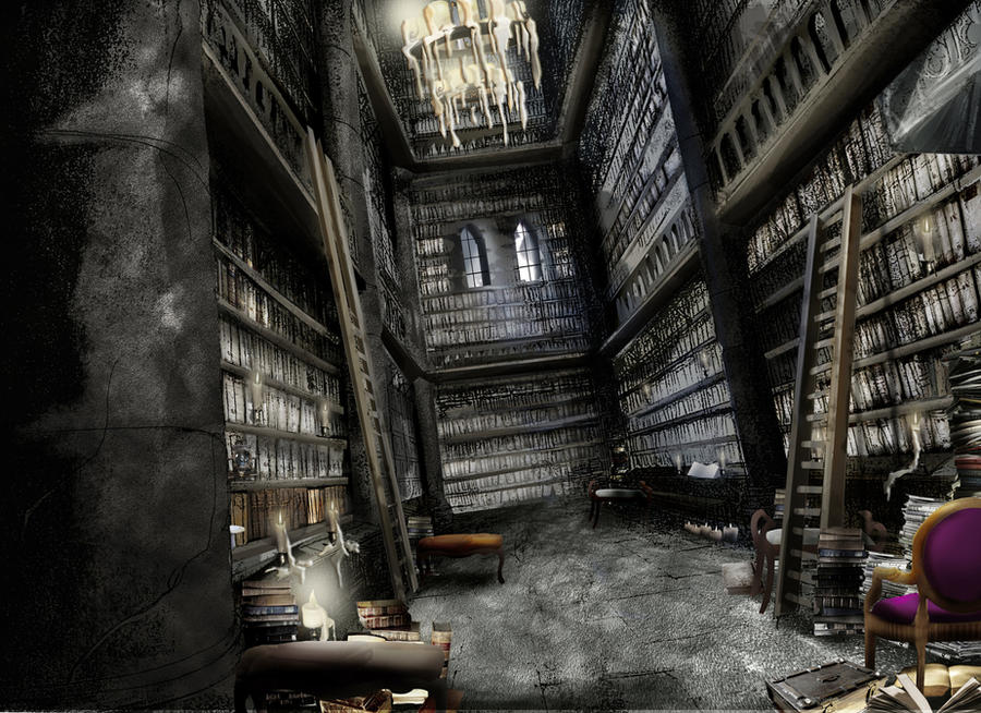 gothic library by c17508 on DeviantArt