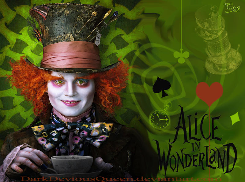 mad hatter wallpaper by queendevious on deviantart