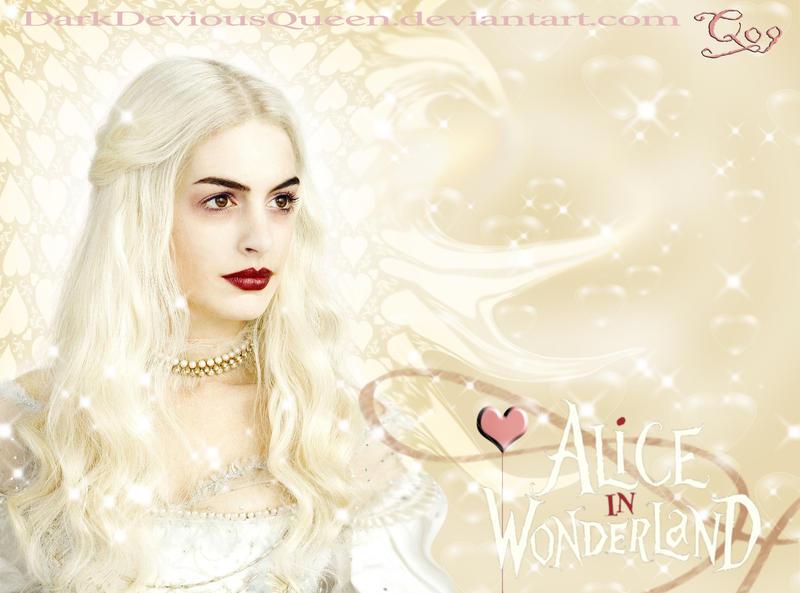 White Queen Wallpaper by =DarkDeviousQueen on deviantART
