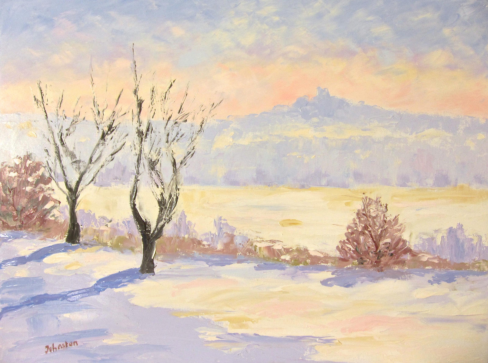 Winter Landscape By French Paintings