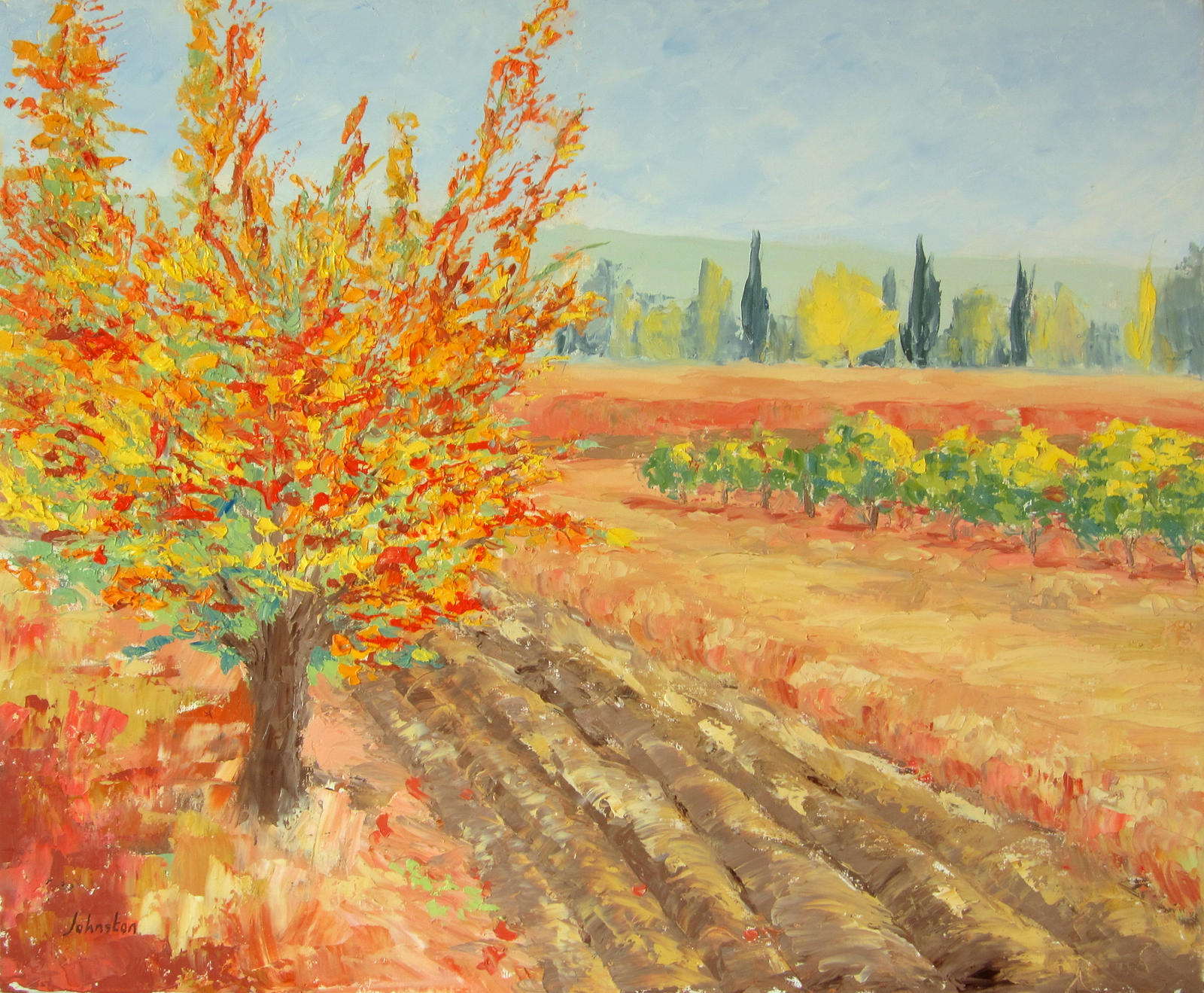 Autumn tree by french paintings on deviantart for Autumn tree painting