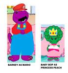 Barney Super Mario Cosplay!
