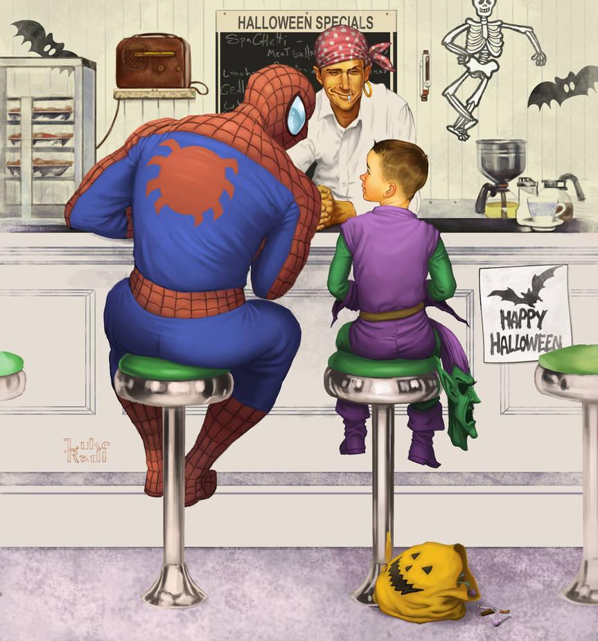 Rockwell Spiderman by lukeradl