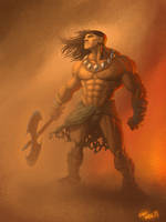 Conan concept painting by lukeradl