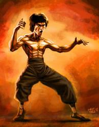 Bruce Lee by lukeradl