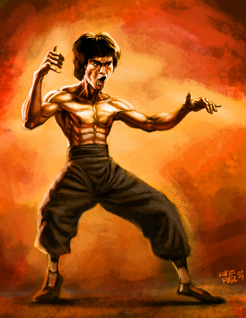 Bruce Lee by lukeradl